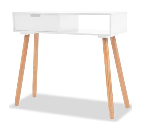 vidaXL Console Table Solid Pinewood 80x30x72 cm White