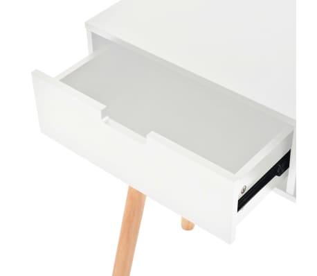 vidaXL Table console Bois de pin massif 80 x 30 x 72 cm Blanc[5/6]