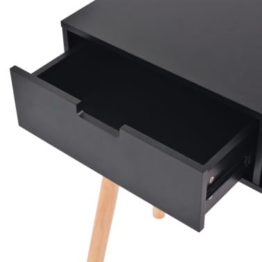 vidaXL Table console Bois de pin massif 80 x 30 x 72 cm Noir[5/6]