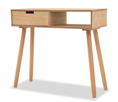 vidaXL Console Table Solid Pinewood 80x30x72 cm Brown