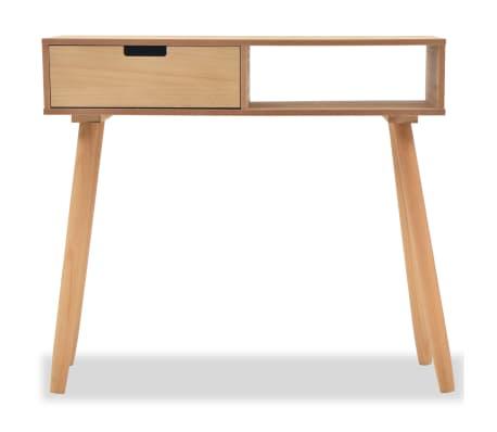 vidaXL Table console Bois de pin massif 80 x 30 x 72 cm Marron[3/6]