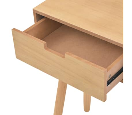 vidaXL Table console Bois de pin massif 80 x 30 x 72 cm Marron[5/6]