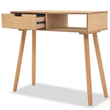 vidaXL Table console Bois de pin massif 80 x 30 x 72 cm Marron[2/6]