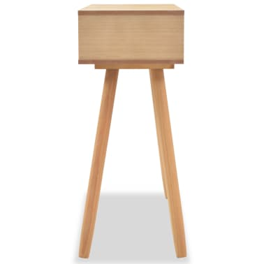 vidaXL Table console Bois de pin massif 80 x 30 x 72 cm Marron[4/6]