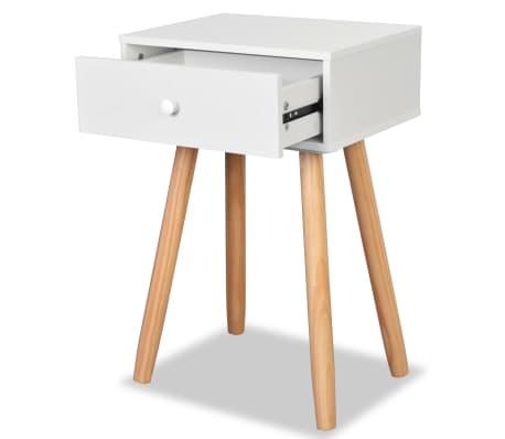vidaXL Noptiere din lemn masiv de pin 2 buc, 40 x 30 x 61 cm, alb[5/8]