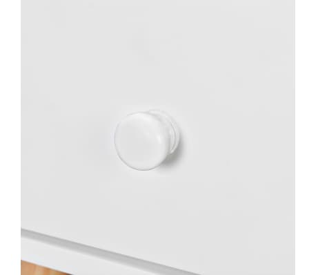 vidaXL Noptiere din lemn masiv de pin 2 buc, 40 x 30 x 61 cm, alb[7/8]
