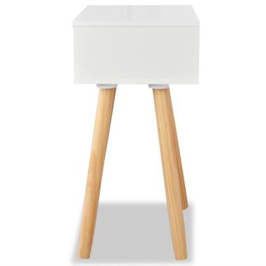 vidaXL Noptiere din lemn masiv de pin 2 buc, 40 x 30 x 61 cm, alb[6/8]