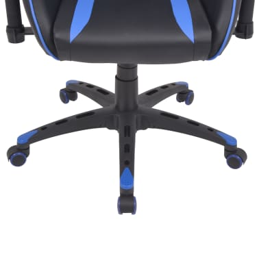 vidaXL Chaise de bureau inclinable Cuir artificiel Bleu[5/6]