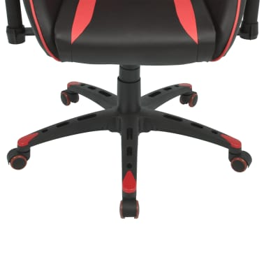 vidaXL Silla de escritorio Racing reclinable de cuero artificial roja[5/6]