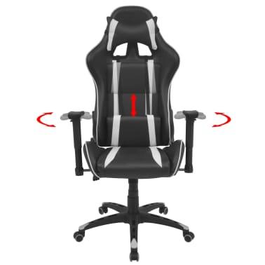 vidaXL Chaise de bureau inclinable Cuir artificiel Blanc[2/6]