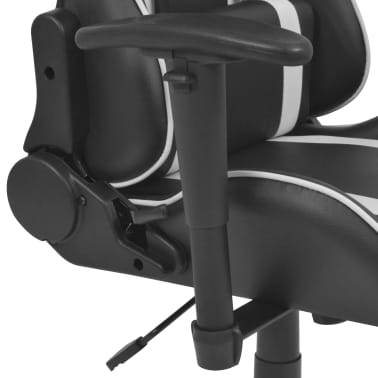 vidaXL Chaise de bureau inclinable Cuir artificiel Blanc[4/6]