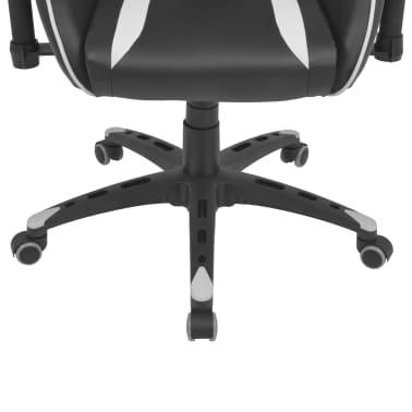 vidaXL Chaise de bureau inclinable Cuir artificiel Blanc[5/6]