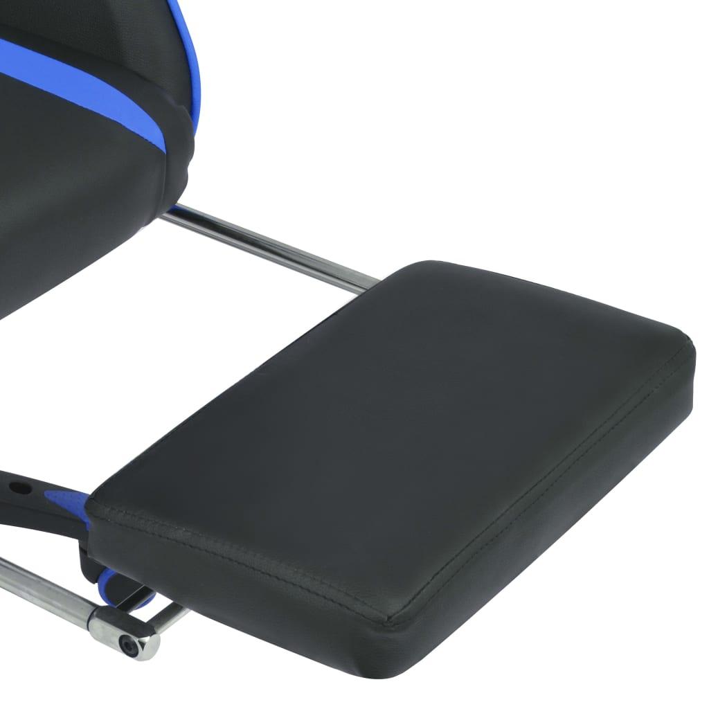 Polohovatelné kancelářské / herní křeslo s podnožkou, modrá