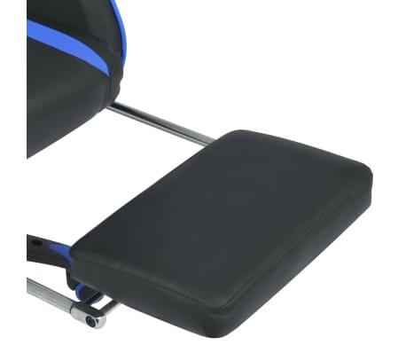 vidaXL Regulowane krzesło biurowe z podnóżkiem, niebieskie[6/7]