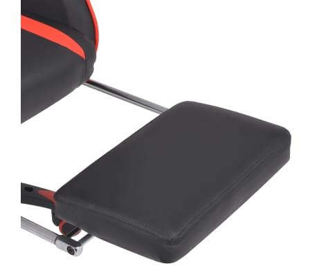 vidaXL Atlošiama biuro/žaidimų kėdė su atrama kojoms, raudona[6/7]
