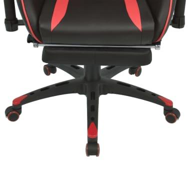 vidaXL Atlošiama biuro/žaidimų kėdė su atrama kojoms, raudona[5/7]