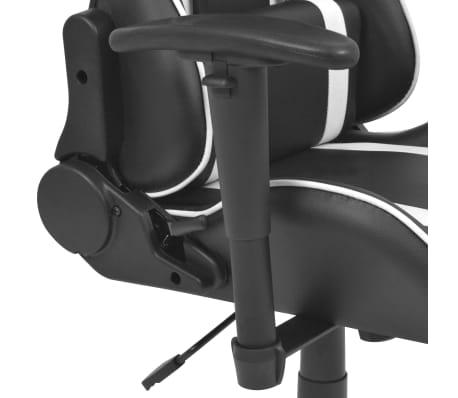 vidaXL Regulowane krzesło biurowe z podnóżkiem, białe[4/7]