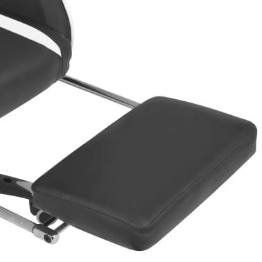 vidaXL Regulowane krzesło biurowe z podnóżkiem, białe[6/7]