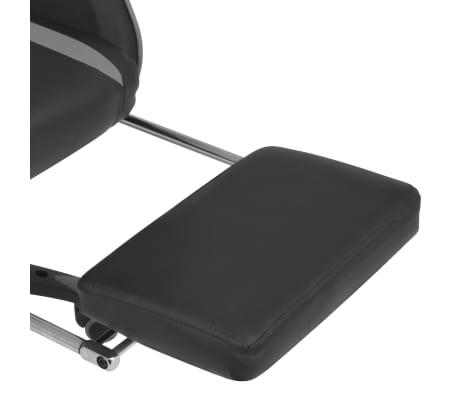 vidaXL Atlošiama biuro/žaidimų kėdė su atrama kojoms, pilka[6/7]
