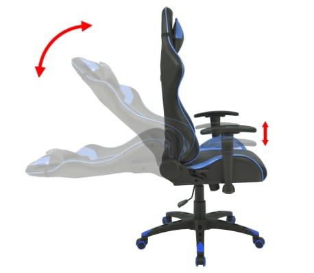 vidaXL Reclining Office Racing Chair Artificial Leather Blue[3/6]