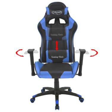 vidaXL Reclining Office Racing Chair Artificial Leather Blue[2/6]