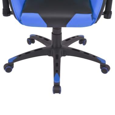 vidaXL Reclining Office Racing Chair Artificial Leather Blue[5/6]