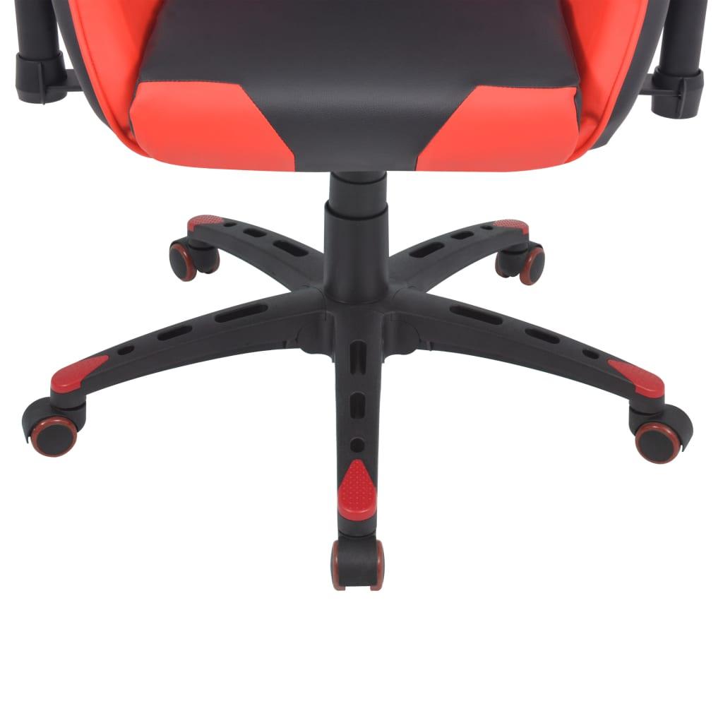 Polohovatelné kancelářské / herní křeslo, umělá kůže, červená