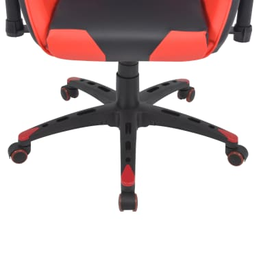 vidaXL Reclining Office Racing Chair Artificial Leather Red[5/6]