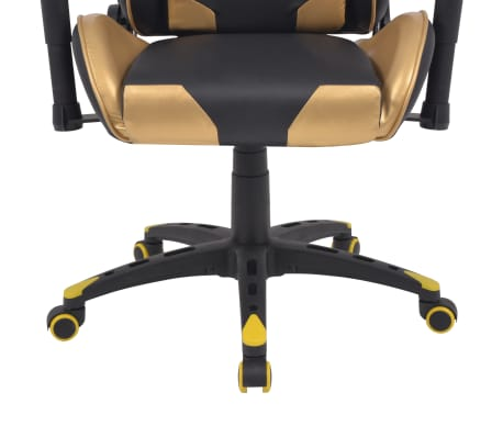 vidaXL Chaise de bureau inclinable Cuir artificiel Doré[5/6]