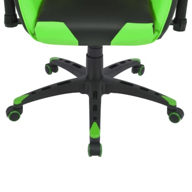 vidaXL Chaise de bureau inclinable Cuir artificiel Vert[5/6]