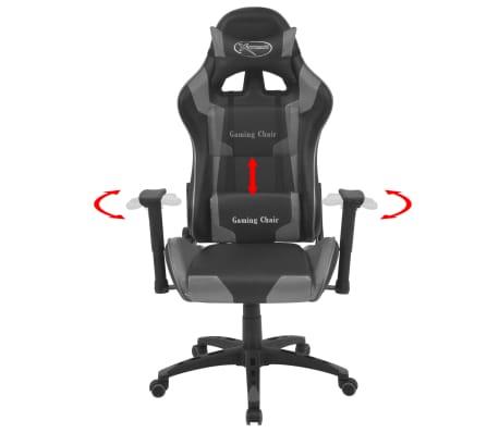 vidaxl b rostuhl gaming stuhl neigbar kunstleder grau g nstig kaufen. Black Bedroom Furniture Sets. Home Design Ideas