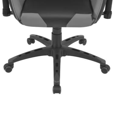 vidaXL Atlošiama biuro/žaidimų kėdė, dirbtinė oda, pilka[5/6]