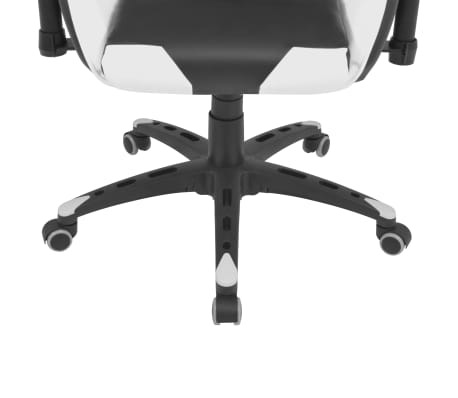 vidaXL Reclining Office Racing Chair Artificial Leather White[5/6]
