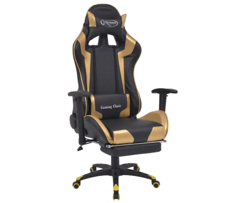 vidaxl b rostuhl gaming stuhl neigbar mit fu st tze gold g nstig kaufen. Black Bedroom Furniture Sets. Home Design Ideas