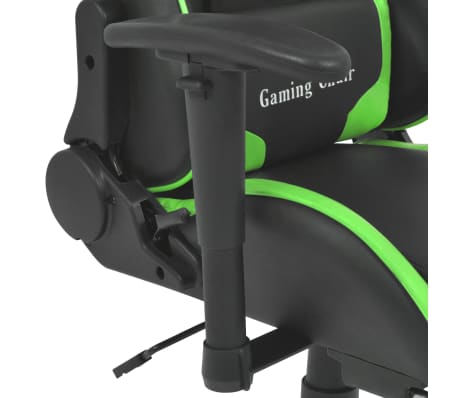 vidaXL Reclining Office Racing Chair with Footrest Green[4/7]