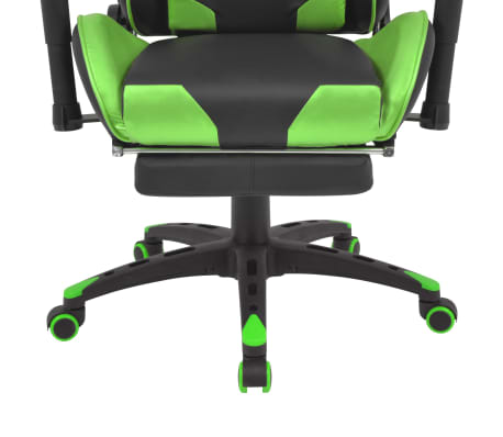 acheter vidaxl chaise de bureau inclinable avec repose pied vert pas cher. Black Bedroom Furniture Sets. Home Design Ideas