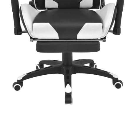 vidaXL Chaise de bureau inclinable avec repose-pied Blanc[5/7]
