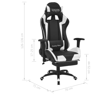 vidaxl b rostuhl gaming stuhl neigbar mit fu st tze wei g nstig kaufen. Black Bedroom Furniture Sets. Home Design Ideas