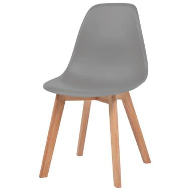 Vidaxl sillas de comedor 4 unidades grises - Sillas comedor grises ...