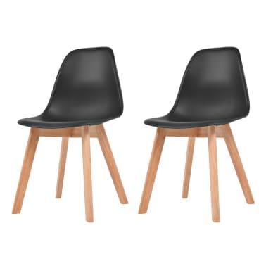 vidaXL Krzesła do jadalni, 2 sztuki, czarne[1/6]
