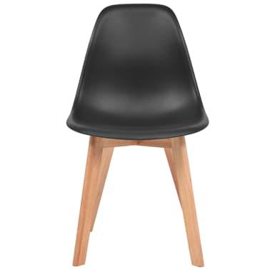 vidaXL Krzesła do jadalni, 2 sztuki, czarne[2/6]