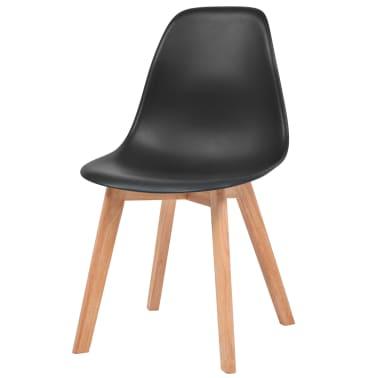 vidaXL Krzesła do jadalni, 2 sztuki, czarne[3/6]