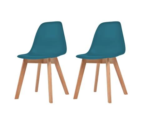 vidaxl esszimmerst hle 2 st ck t rkis g nstig kaufen. Black Bedroom Furniture Sets. Home Design Ideas