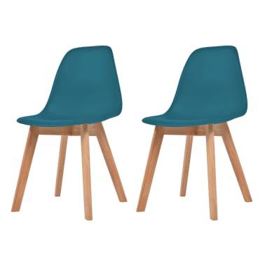vidaXL Krzesła do jadalni, 2 sztuki, turkusowe[1/6]