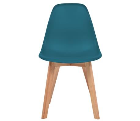 vidaXL Krzesła do jadalni, 2 sztuki, turkusowe[2/6]