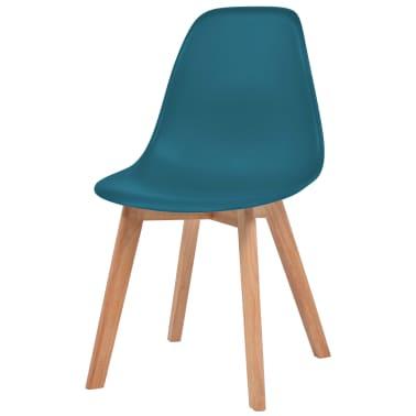 vidaXL Krzesła do jadalni, 2 sztuki, turkusowe[3/6]