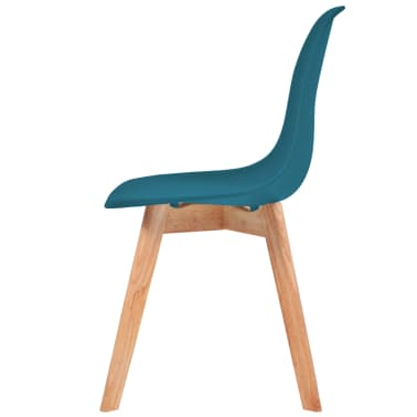 vidaXL Krzesła do jadalni, 2 sztuki, turkusowe[4/6]
