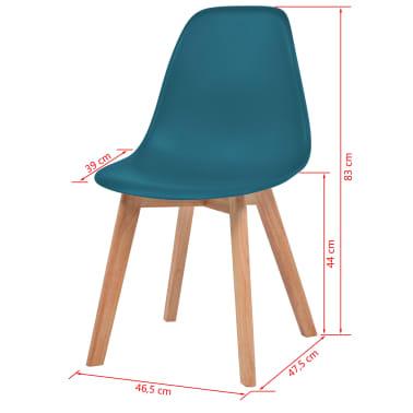 vidaXL Krzesła do jadalni, 2 sztuki, turkusowe[6/6]