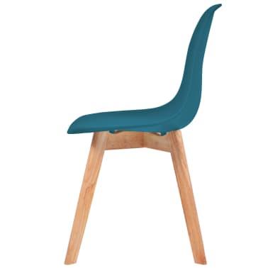 vidaxl esszimmerst hle 4 st ck t rkis g nstig kaufen. Black Bedroom Furniture Sets. Home Design Ideas