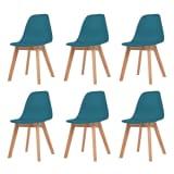 vidaXL Valgomojo kėdės, 6 vnt., turkio spalvos